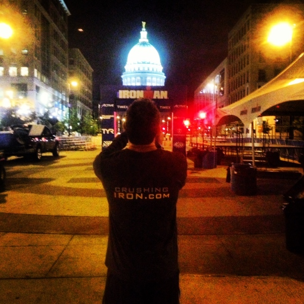 ironman wisconsin finish line state capitol