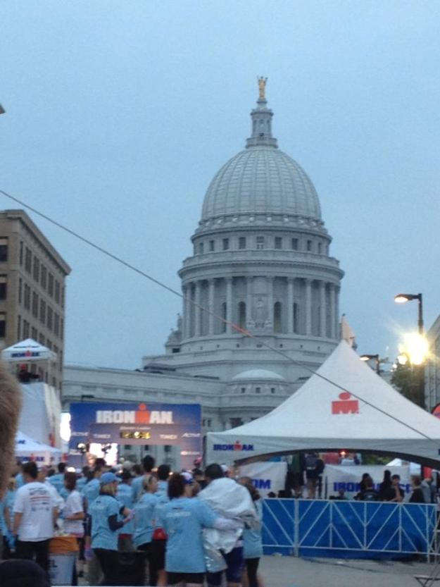 Ironman Wisconsin, State Capitol, Finish line